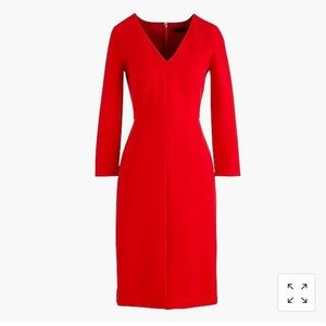 J Crew long sleeve sheath dress in stretch ponte!